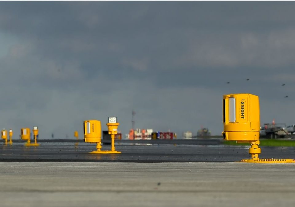 Xsight's sensors deployed along the runway at Seattle Tacoma International Airport